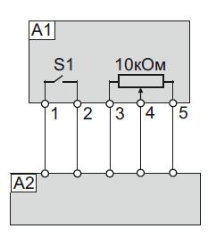 Схема подключения ПУ ATV